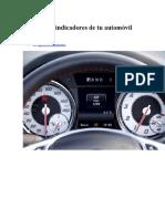 Significado Indicadores de Tu Automóvil