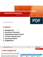 2013 Brazil FIFA World Cup Final Draw Assurance Summary 20131218