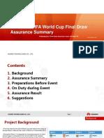 2013 Brazil FIFA World Cup Final Draw Assurance Summary 20131218