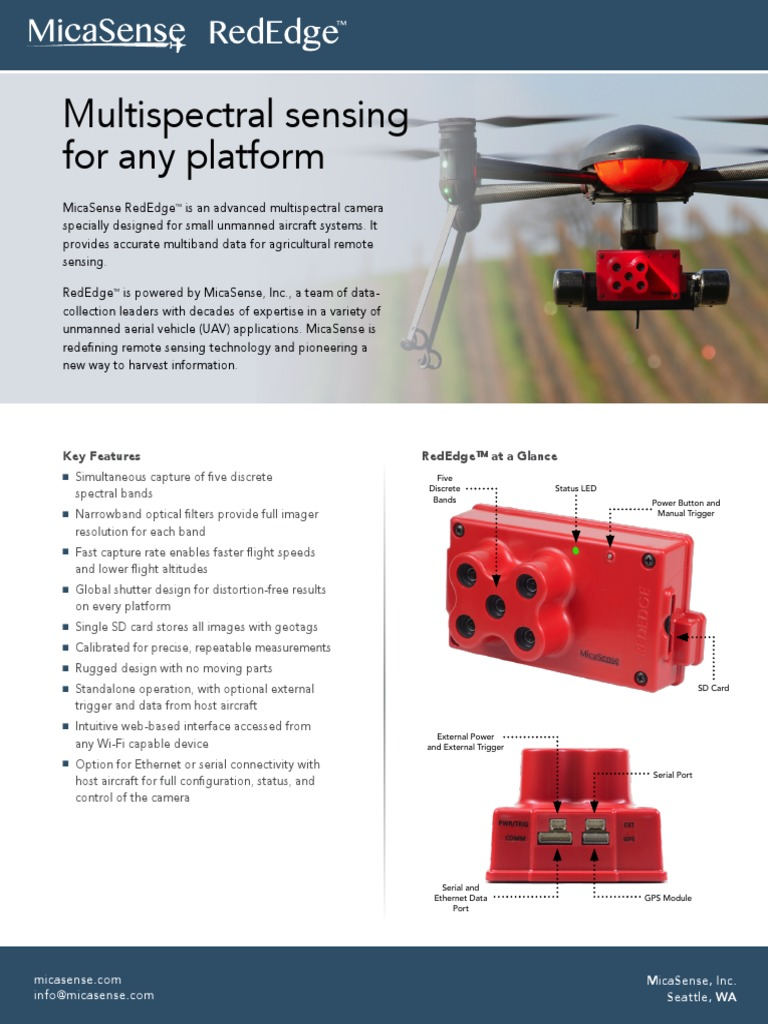 Multispectral Sensing For Any Platform: Key Features Rededge