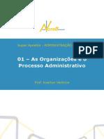 As Organizações e o Processo Administrativo