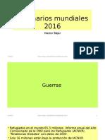 Escenarios mundiales 2016