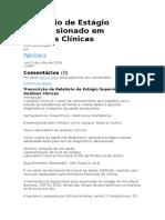Relatório de Estágio Supervisionado Em Análises Clínicas