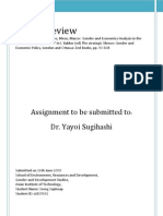 Gender and Economics Analysis in the Context of Policy Reform_Sreng Sopheap