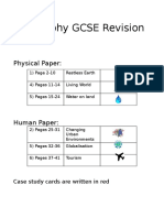 Geography Revision Cards
