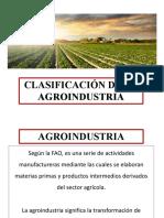 RAyBD Clasificacion de Agroindustria