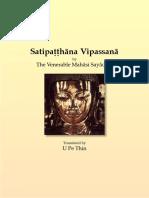 707. Satipatthana Vipassana - Mahasi Sayadaw-1951