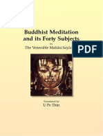 708. Buddhist Meditation and Its Forty Subjects - Mahasi Sayadaw-1954