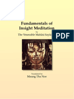709. Fundamentals of Insight Meditation - Mahasi Sayadaw-1959