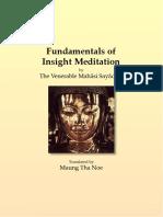 629. Fundamentals of Insight Meditation - Mahasi Sayadaw-1959