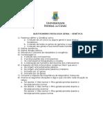 Questionário Patologia Geral