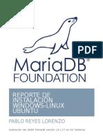Instalacion de MARIADB en Windows y Linux