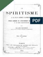 Le Spiritisme a Sa Plus Simple Expression 1862 Pesquisavel