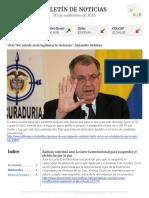 Boletín de noticias KLR 30SEP2016