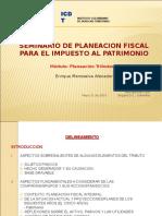 Presentación Seminario Planeación Fiscal Impuesto Al Patrimonio