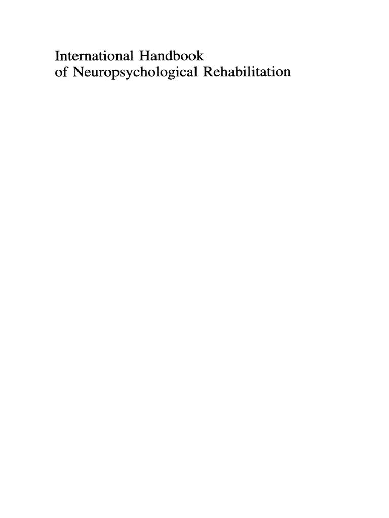 International handbook of neuropsychological rehabilitationpdf international handbook of neuropsychological rehabilitationpdf neuron traumatic brain injury buycottarizona