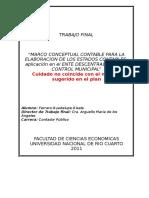 Marco conceptual para la elaboracion de estados contables en el sector publico
