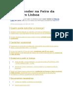 Como Vender Na Feira Da Ladra Em Lisboa