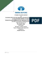 tata motors project report