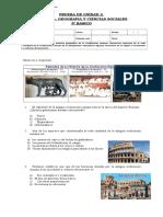 Prueba de unidad 3 Roma.doc