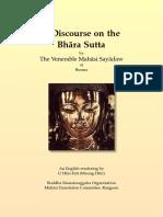 719. Discourse on the Bhara_Sutta - Mahasi Sayadaw-1966