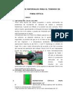 Informe de Materiales Para El Tendido de Fibra Optica