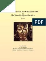 721. Discourse on the Sallekha_Sutta - Mahasi Sayadaw-1969