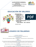 Lista Diplomado Clase Nº 6 Educación en Valores