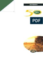 Defender V8i 50LE MY98 - Owner's Handbook