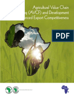 Agricultural Value Chain Financing AVCF and Development for Enhanced Export Competitiveness