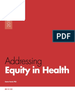 Addressing Equity in Public Health