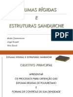 Seminário - Espumas Rígidas e Estruturas Sanduiche