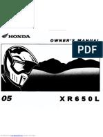 Manual Honda XR650L
