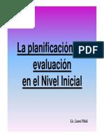 La Planificacion y La Evaluacion en El Nivel Inicial