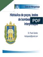 8 - Hidráulica de Poços Testes de Bombeamento e Interpretação