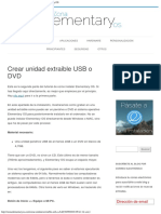 Crear Unidad Extraible USB o DVD - Zona Elementary OS