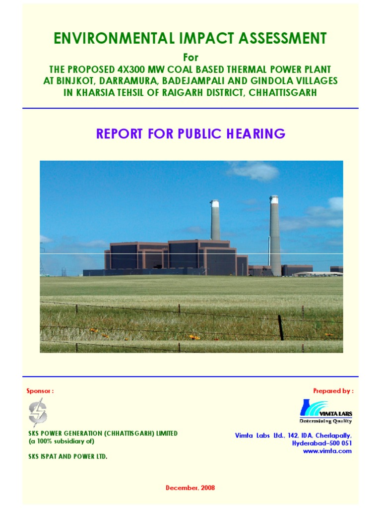 Environment impact assessment report   Environmental Monitoring ...