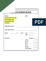Formato Identificacion de Residuo Peligroso