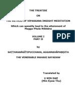 734. Vipassana Treatise - Volume-I -Part-II - Mahasi Sayadaw