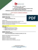 Programa Curso Afa 21 y 22 Ciudad de Arica.