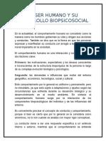 El Ser Humano y Su Desarrollo Biopsicosocial