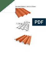 Teja Andina Fibrocemento - Especificaciones Tecnicas