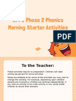 t l 51727 Eyfs Phase 2 Phonics Morning Starter Activities Powerpoint