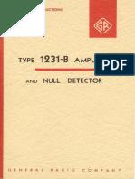 1231-B Amplifier & Null Detector