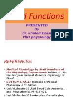 Blood Functions II