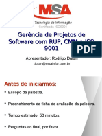 Gerencia de Projetos com RUP CMM e ISO 9001.ppt