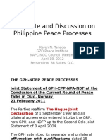 An Update and Discussion on Philippine Peace Processes
