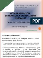 Analísis de Recursos Humanos y Materiales Exposicion