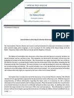 press release worship reformation