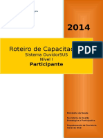 Roteiro Capacitação OuvidorSUS Nível 1-Participante -2014